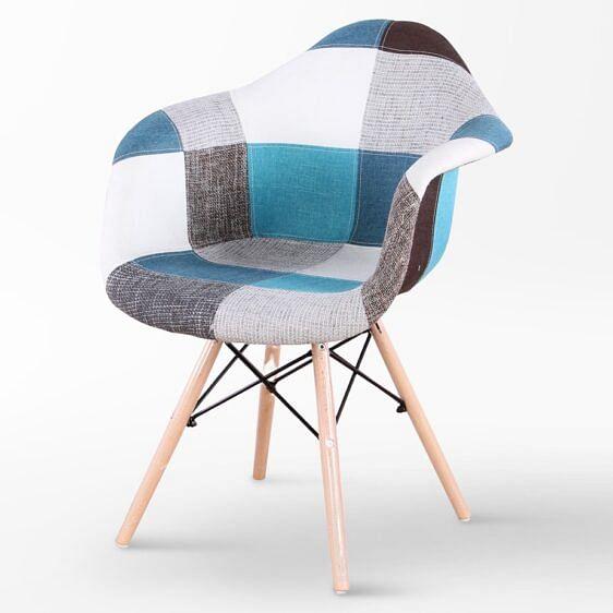 Ardesia Designer Chair Patchwork Blue
